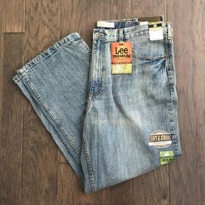 Lee 40 W 30 L Faded Light Relaxed Straight Leg